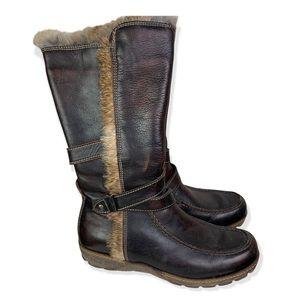 Cinzia Rossi Italian Made Fur Trim Leather Boots
